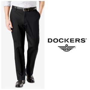 Dockers Mens Classic Pleated Black Pants 32 x 30